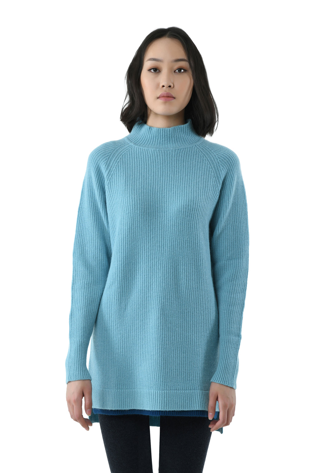 Colorful Turtleneck Cashmere Sweater