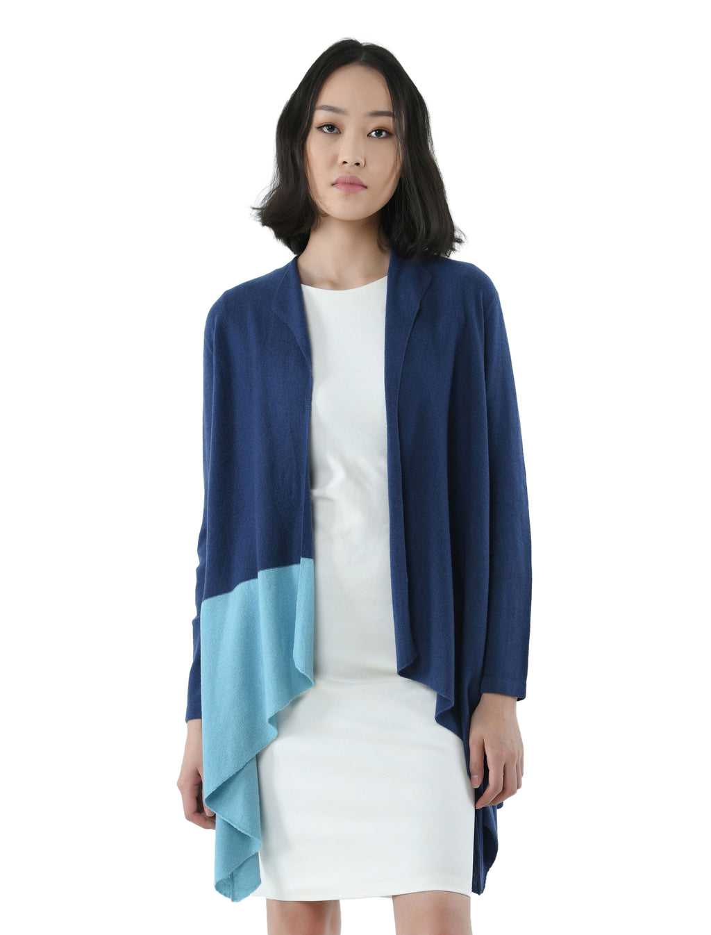 Women's Blue Toned Cashmere Cardigan