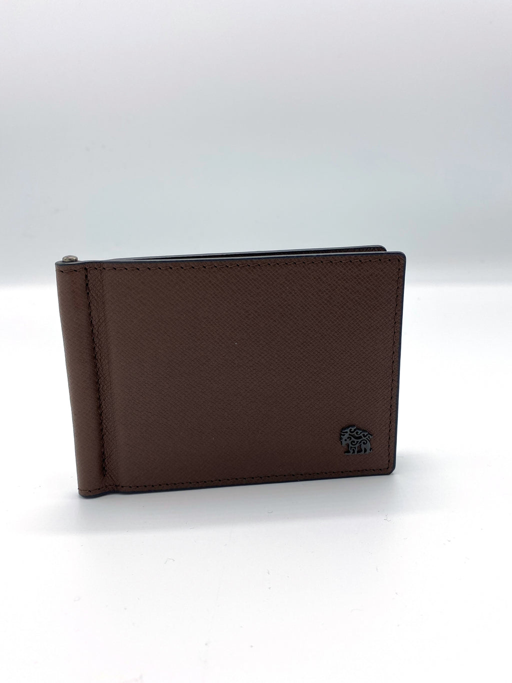 Genuine Leather Brown Wallet with Button