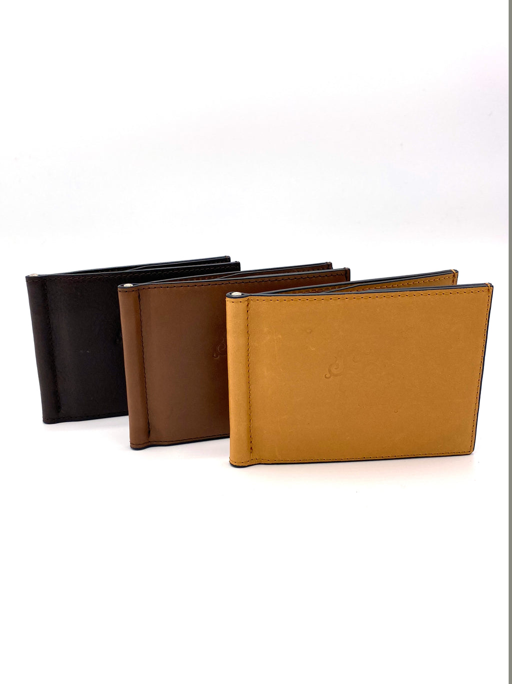 Genuine Leather Brown Wallet with Clip