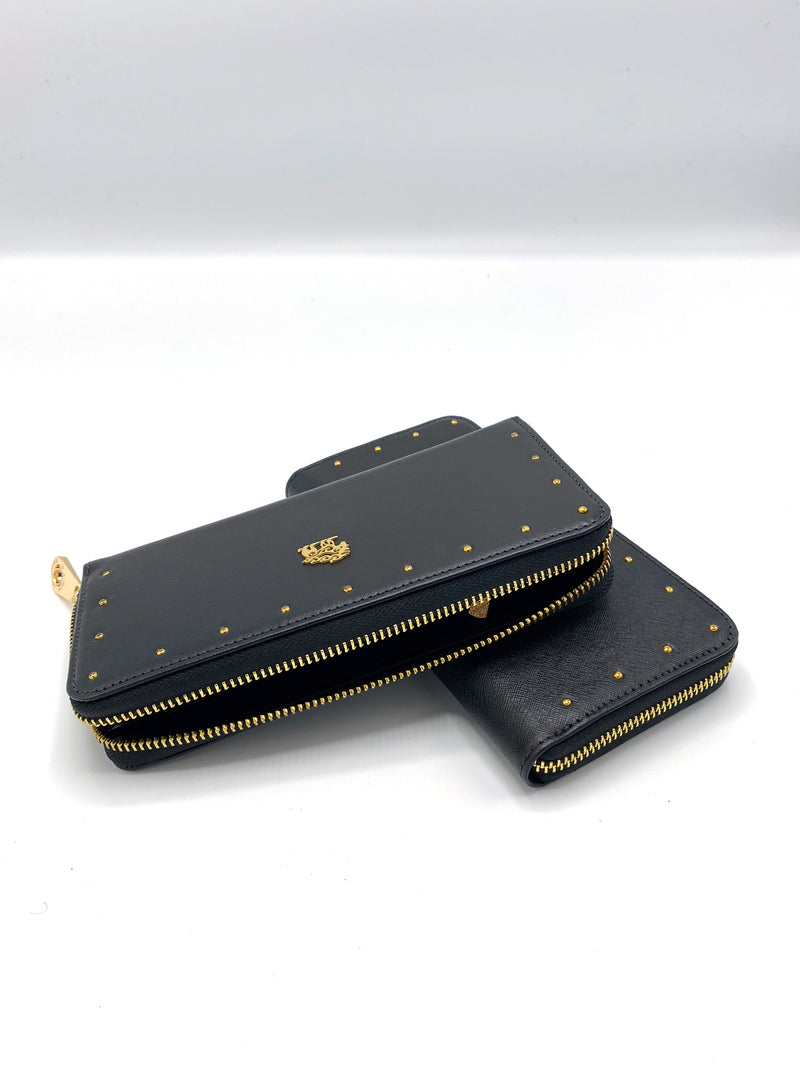 Female Leather Wallet with Zipper
