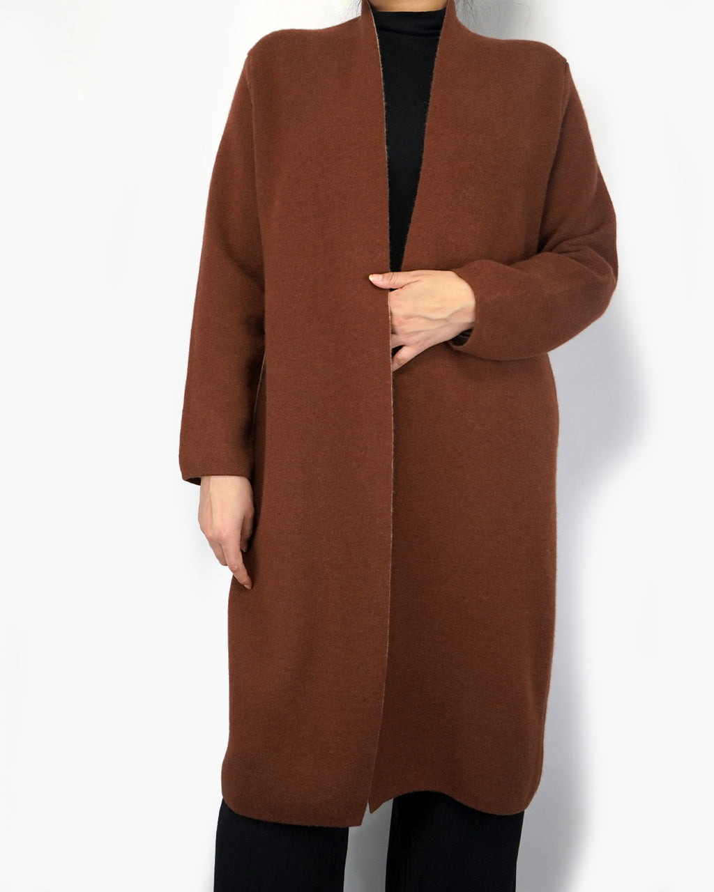 Two Sided, Long Cashmere Coat