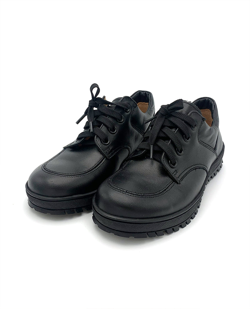 Casual Black Leather Sneakers