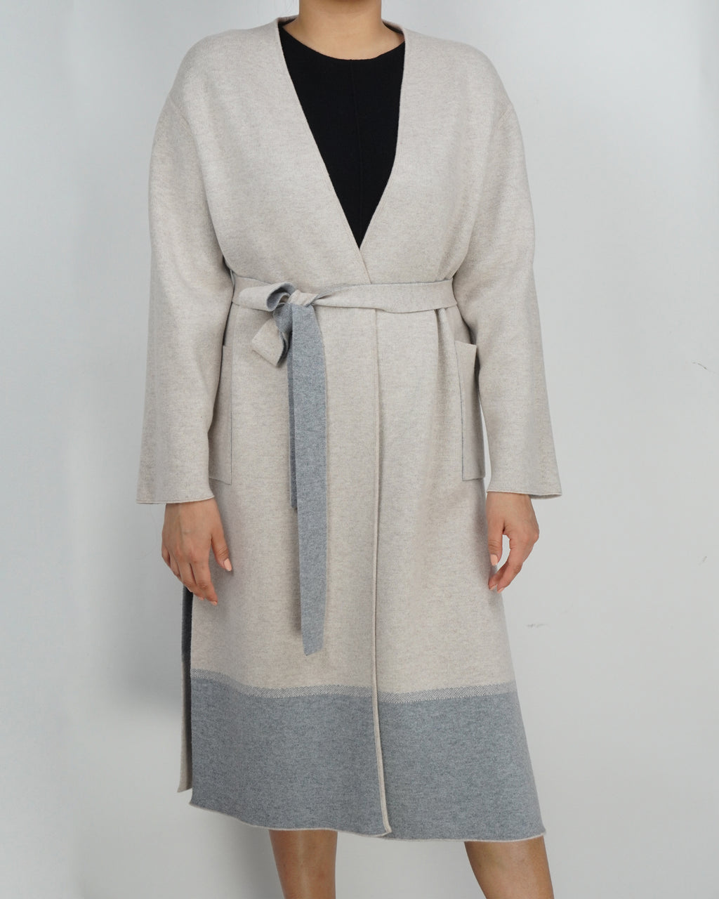 Reversible Cashmere Coat with Belt