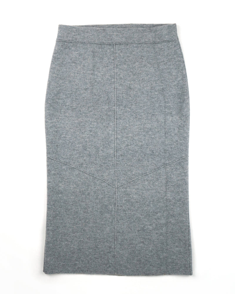 Double Knit Cashmere Skirt