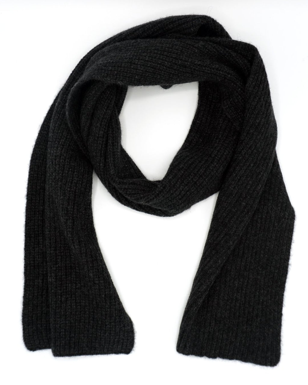 2 ply Charcoal Grey Cashmere Scarf
