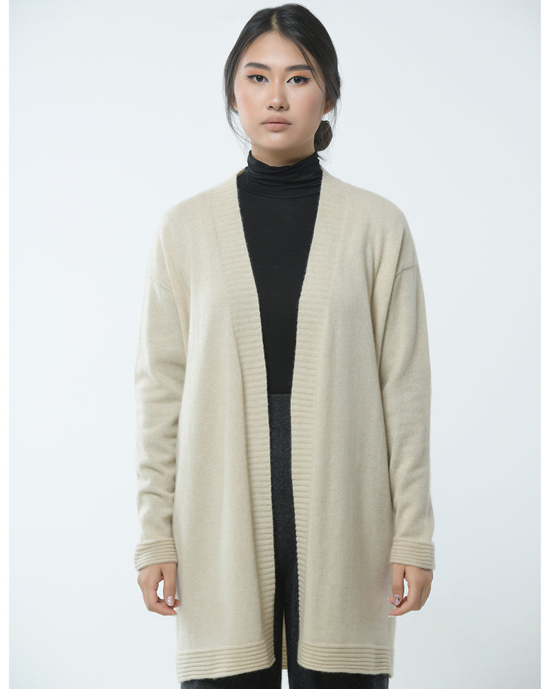 Cashmere Cardigan with Links Knit