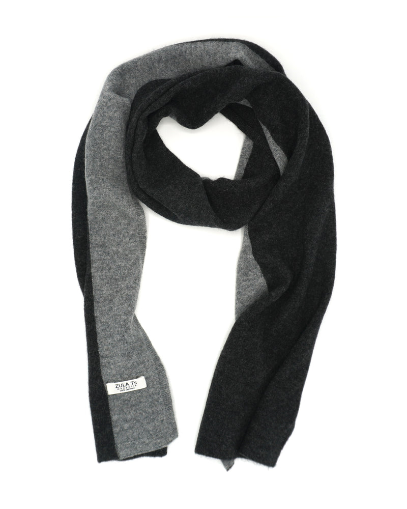 Black & Grey Cashmere Scarf