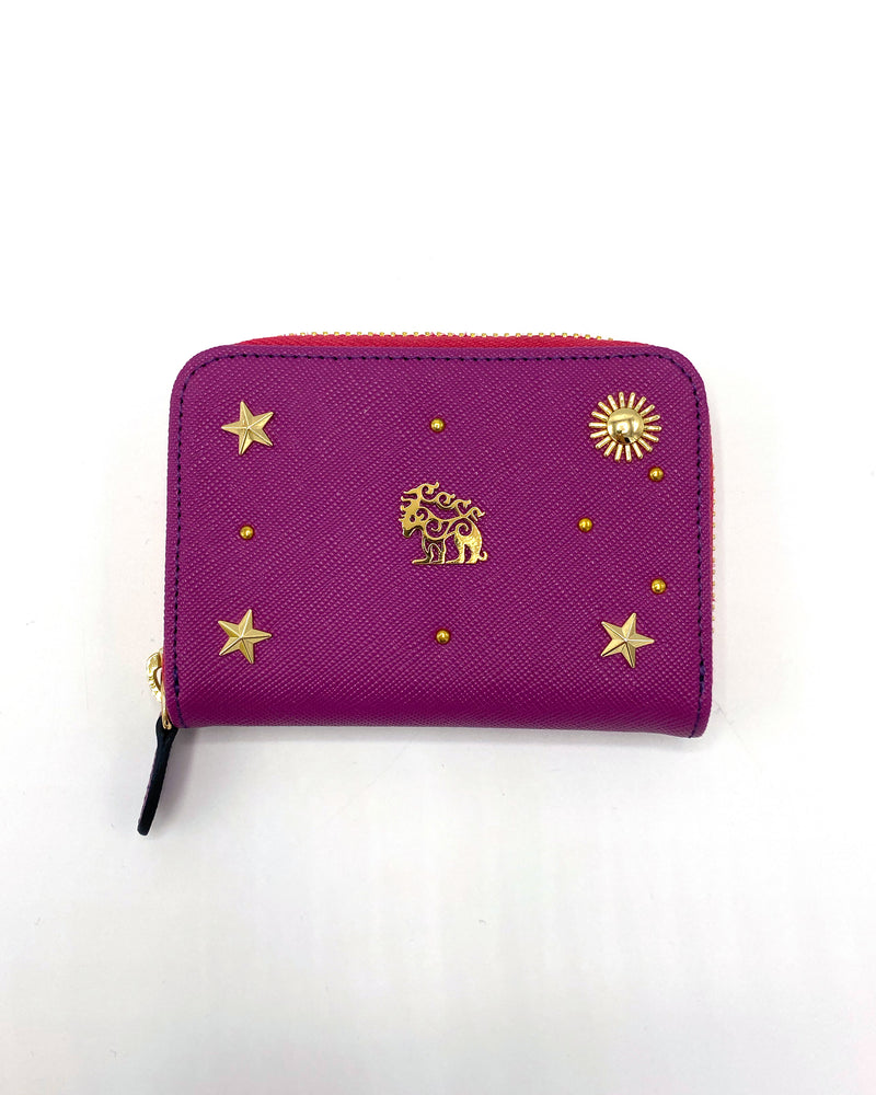 Compact, Colorful Leather Wallet