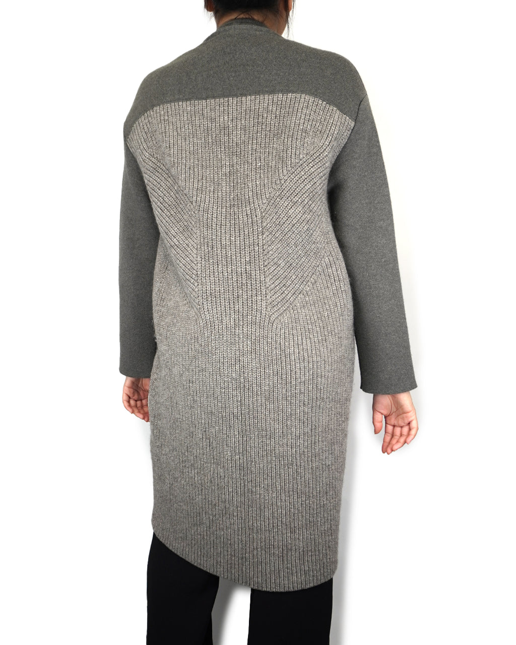 Long Grey Cashmere Coat