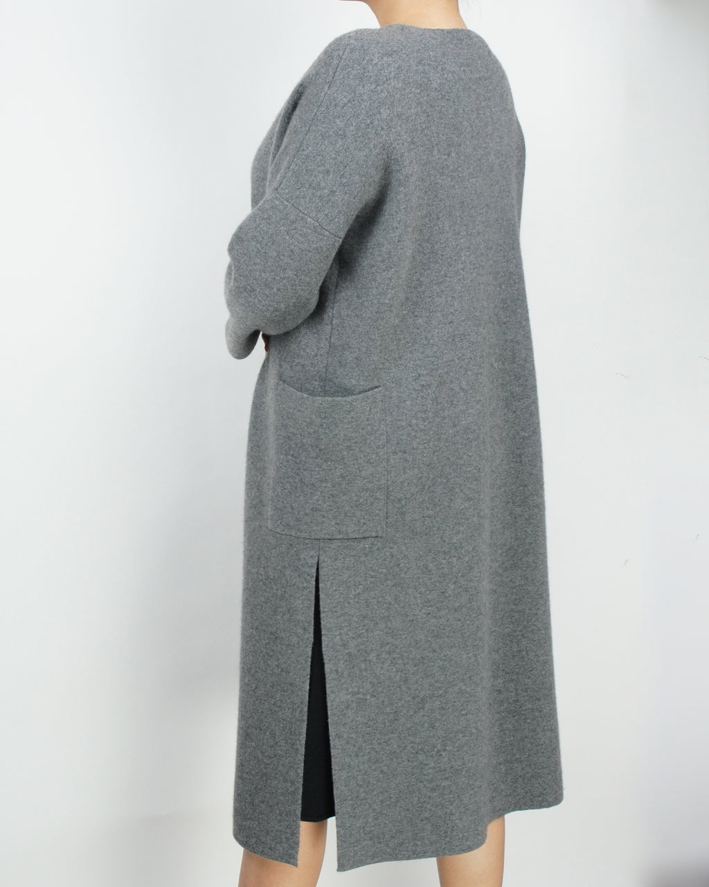 Cashmere Coat with Open Design