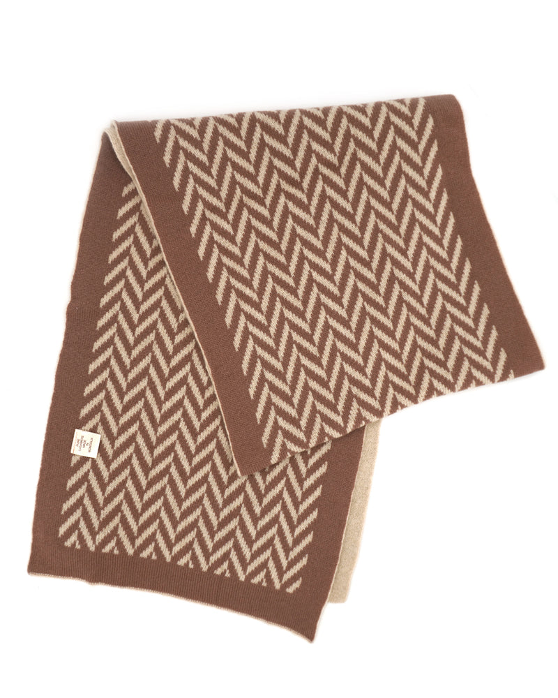 Two Toned, Brown Cashmere Scarf