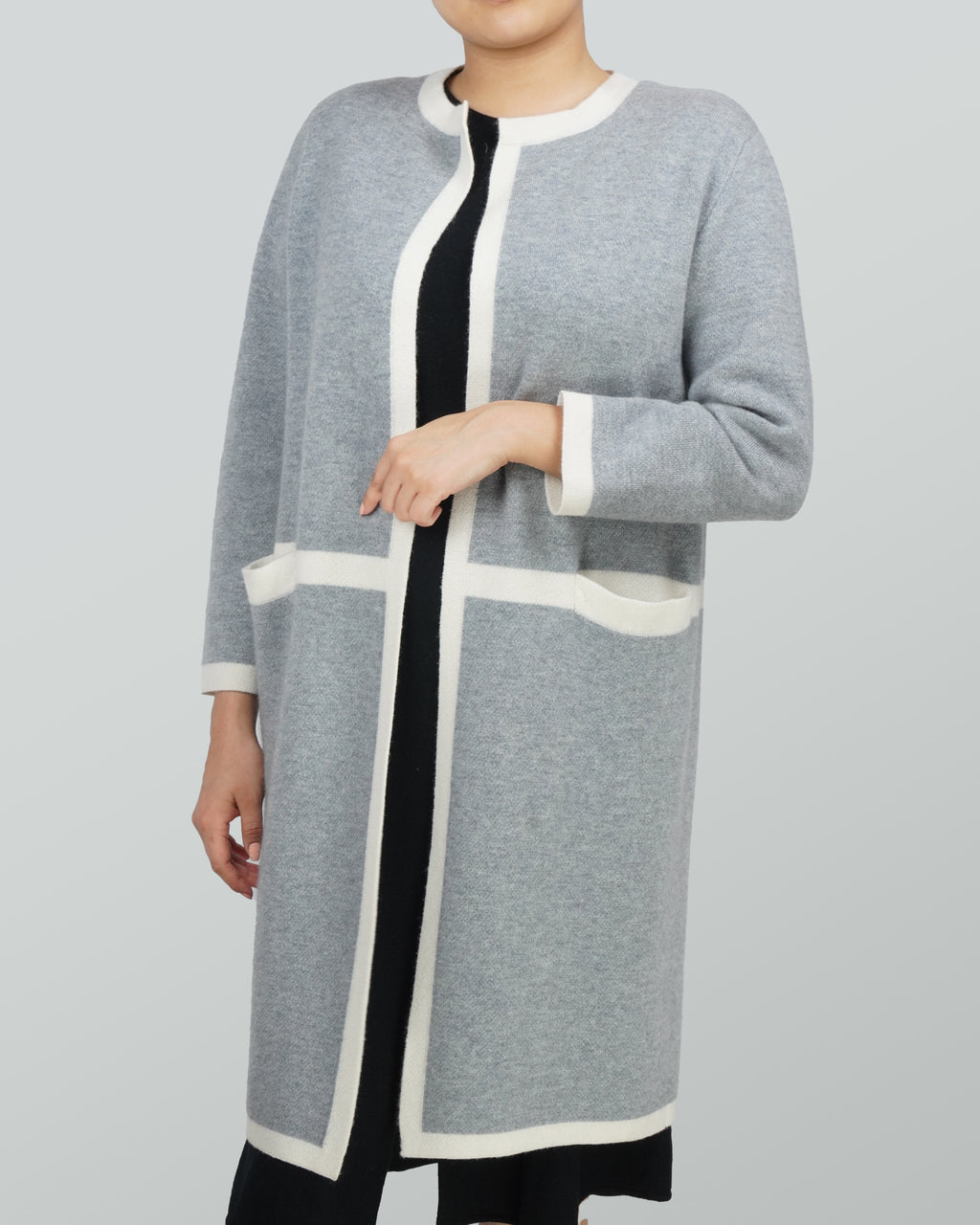 Round-neck Cashmere Coat