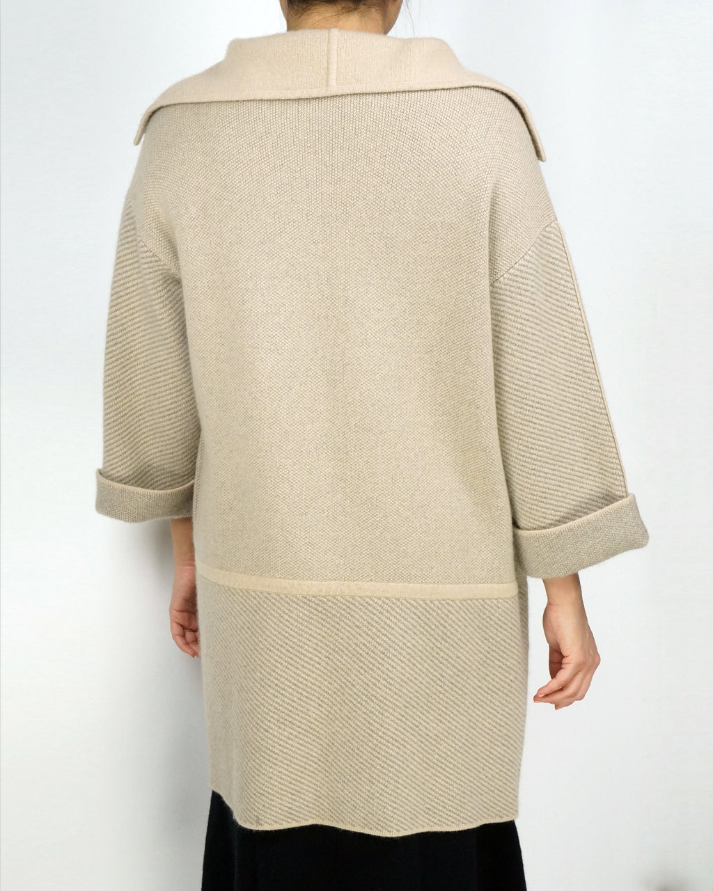 Wide Collared Cashmere Coat
