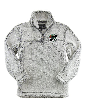 1/4 Zip Sherpa Pullover- youth and adult