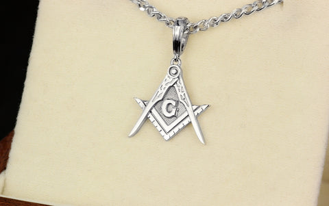 Masonic pendant Compass and Square