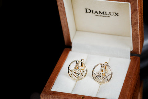 Masonic cufflinks Square and Compasses