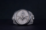 Masonic ring Compass and Square