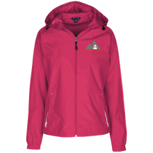 Load image into Gallery viewer, LST76 Sport-Tek Ladies' Jersey-Lined Hooded Windbreaker
