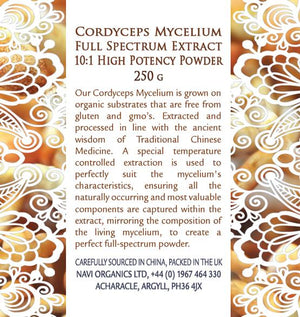Full Spectrum Cordyceps CS-4 Mycelium Extract Powder - Superior Quality - Na'vi Organics Ltd