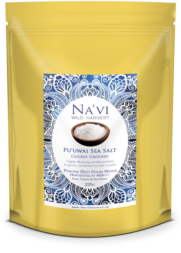 Pu'uwai Deep Ocean Hawaiian Sea Salt - Course Ground - Na'vi Organics Ltd