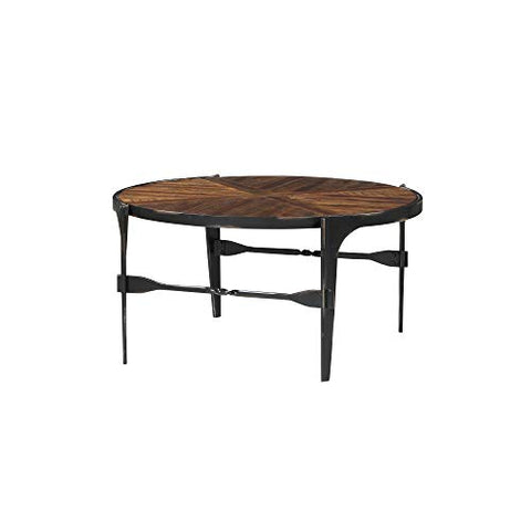 Bristol Round Coffee Table  and Blackened Steel