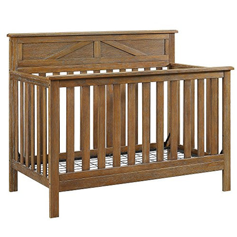 Baby Relax Hathaway 5-in-1 Convertible Crib, Rustic Coffee : Baby