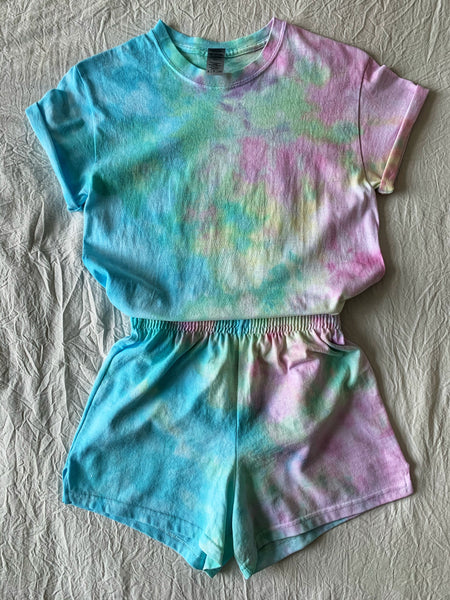 Custom Shirt & Shorts Tie Dye Set