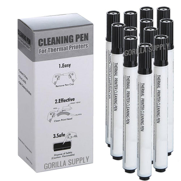 Cleaning Pen Printer Head 99.9% IPA Zebra Epson Dymo Bixolon 12 pens
