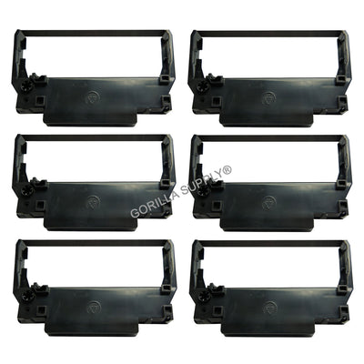 6Pk Epson Ink Ribbon ERC-38 Black For Epson ERC30 34 38 ERC38B TM-U220