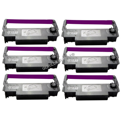 6Pk Epson Ink Ribbon ERC-38 Purple For Epson ERC30 34 38 ERC38 TM-U300