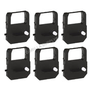 6PK Lathem Time Clock VIS6008 Ribbon Black 900E 1000E 1500E 5000EP 7000E 7500E