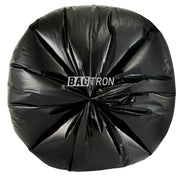 "Bagtron Black 100 Can Liners 40"" x 46"" 45 gallon 30 micron Pure LDPE"