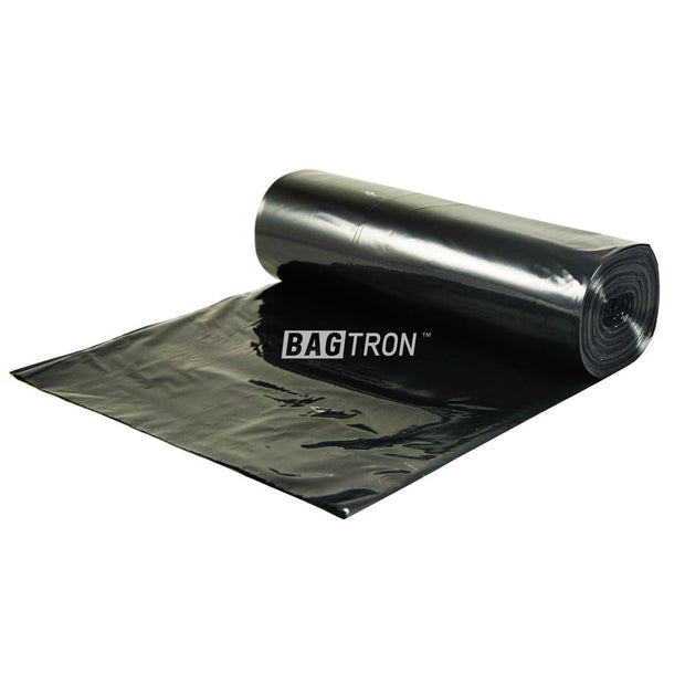 "Bagtron Black 100 Can Liners 36"" x 58"" 55-60 gallon 30mic LDPE"