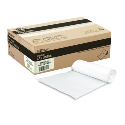 Bagtron Can Liners CL2424NA8 24 x 24 7-10 gallon Qty 1000, Natural