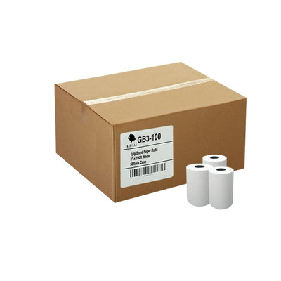 (50) 3 x 100' 1-Ply Bond Paper Telecheck Eclipse T77 Non-thermal Paper Rolls