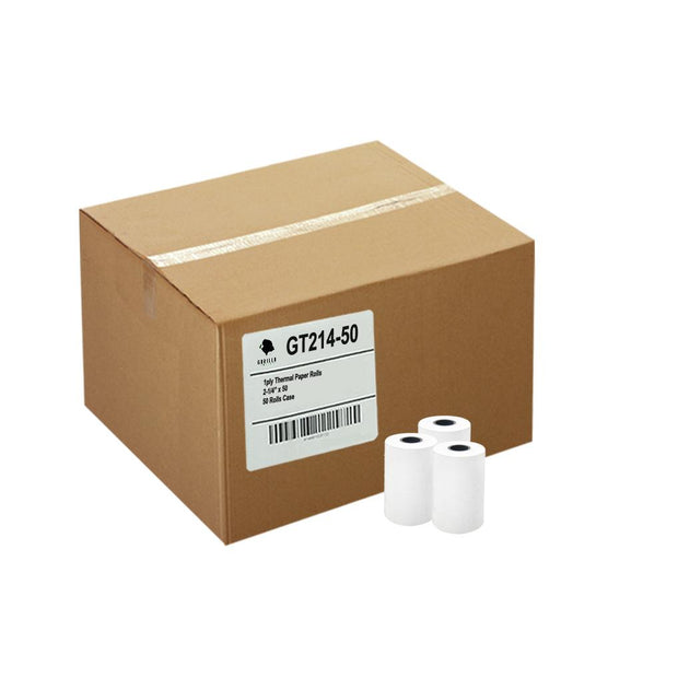 (50) 2-1/4 x 50' Thermal Paper 50 Rolls FD400 Vx520 ICT220