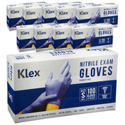 1000 Klex Nitrile Exam Gloves - Medical Grade, Powder Free, Latex Rubber Free, Disposable, Food Safe, Lavender S Small