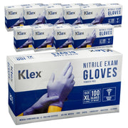 1000 Klex Nitrile Exam Gloves - Medical Grade, Powder Free, Latex Rubber Free, Disposable, Food Safe, Lavender XL Extra Large