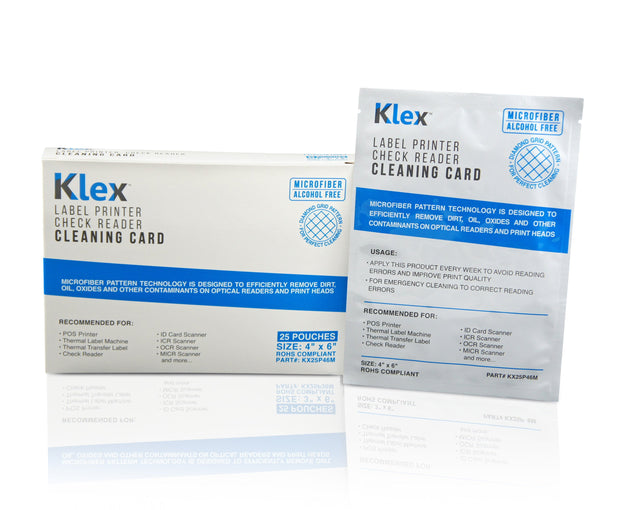 Klex Micorfiber Check Scanner Cleaning Card 4 x 6 IPA-Free 25 cards