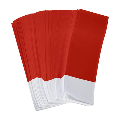"Gorilla Supply Red Napkin Bands 1.5"" x 4.25"" (Pack of 2500)"