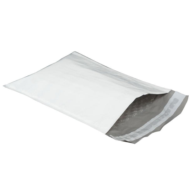 "100 Bagtron #2 Poly Bubble Mailer Bags 8-1/2"" x 11"" Shipping Envelopes Grey 2mil"