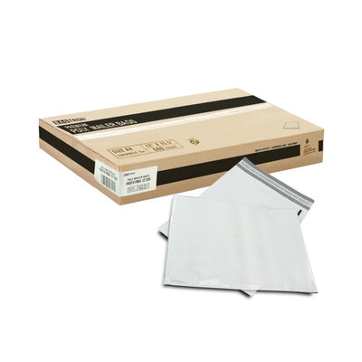 "500 Bagtron #4 Poly Mailer Bags 12"" x 15-1/2"" Shipping Envelopes Grey 2mil"