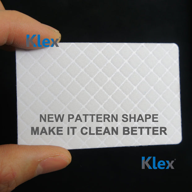 Klex Microfiber POS Label Thermal Printer Cleaning Card 3 x 6 IPA-Free 25 cards