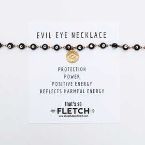 Evil Eye Charm Necklace - Protection - Power - Positive Energy