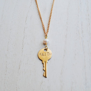 Key to You Necklace: Faith