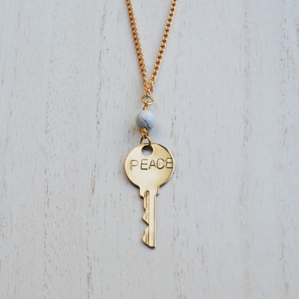 Key to You Necklace: Peace