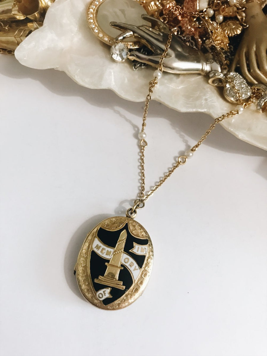 Antique Victorian rolled gold enamel