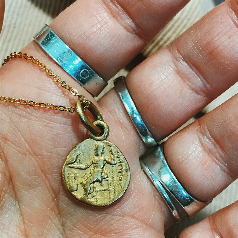 Roman 9ct Gold plated coin necklace