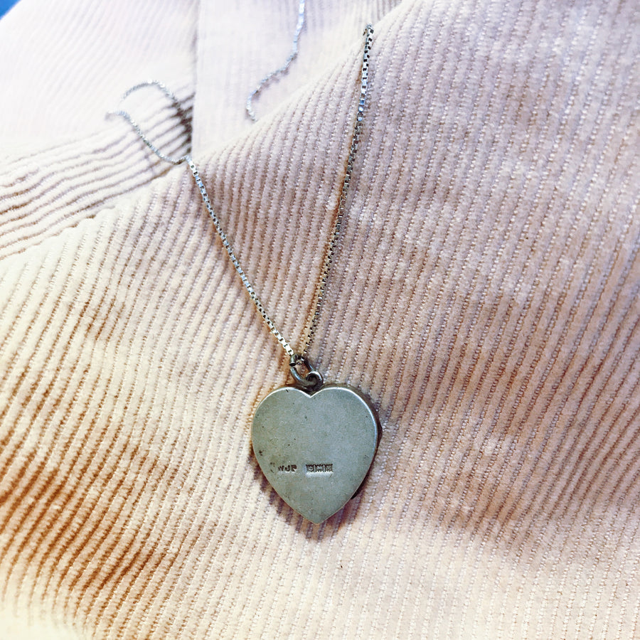 Solid silver 1970's engraved locket